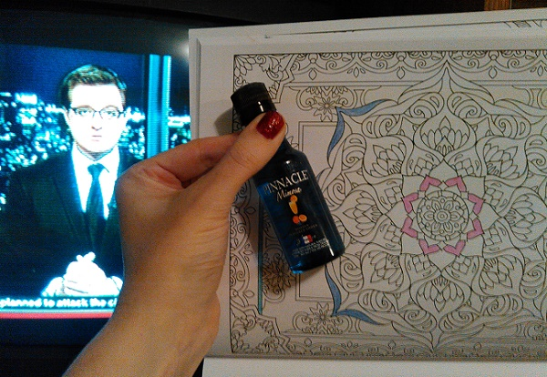 Coloring, vodka, an Chris Hayes