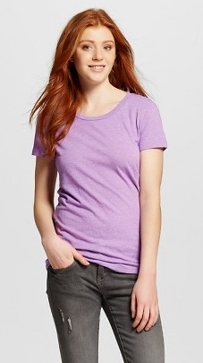 Target Mossimo Supply Co Lively Lilac Crew t-shirt