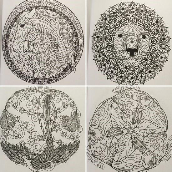 coloring-animal-mandalas