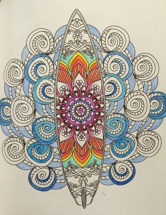 85 Ocean Mandala Coloring Book