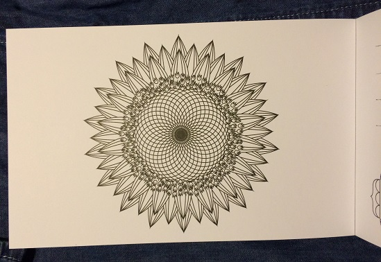 coloring-postcard-flower