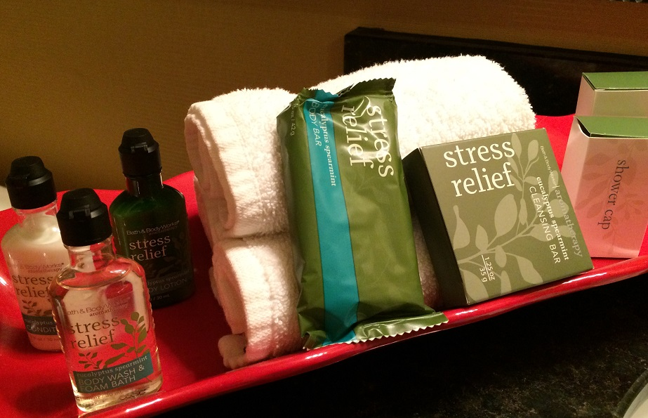 Stress Relief hotel soaps and toiletries