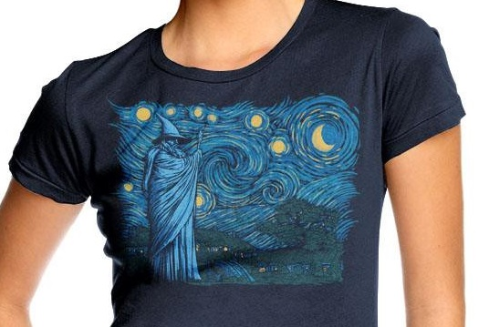 Gandalf starry night tee