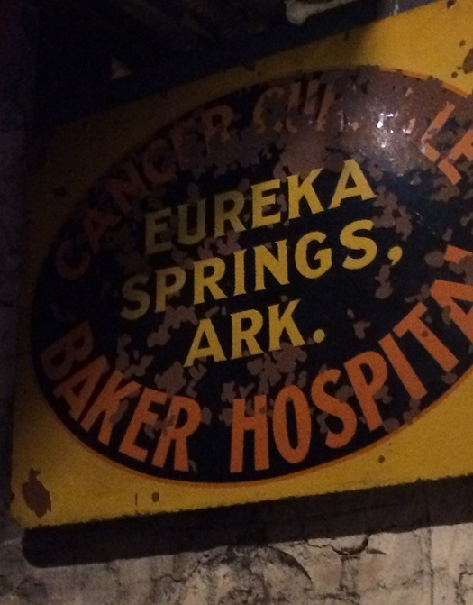 Crescent Hotel Baker Cancer Hospital Sign