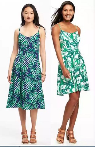 Old Navy palm print dresses