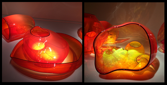 Crystal Bridges Chihuly Fire Red Bowls