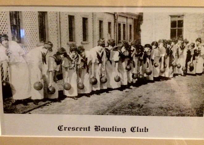 Crescent Hotel 1900 bowling team