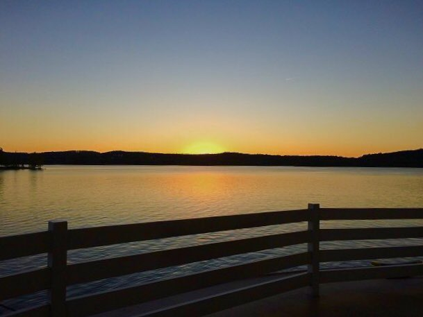 Sunset from the Showboat Branson Belle