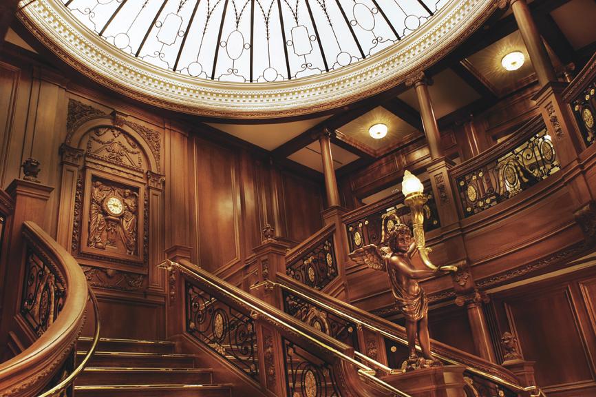 Titanic museum branson grand staircase