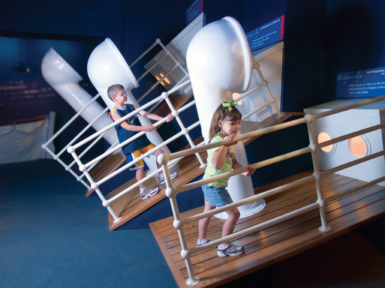 Sloping Deck at Branson Titanic Museum