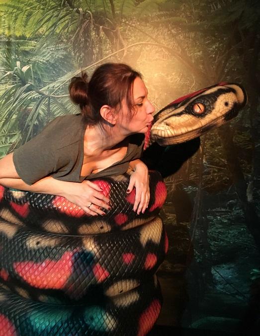 Wax museum Branson MO snake