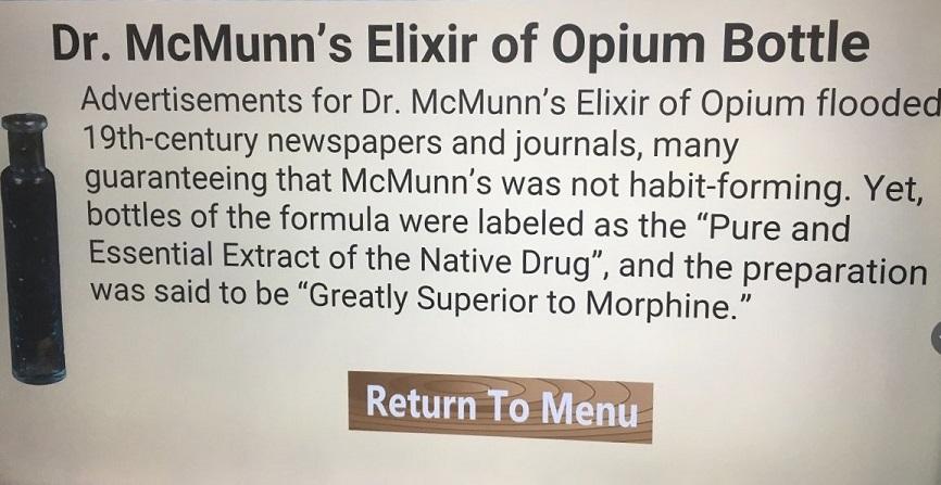 ss republic bottle mcmunn's elixir of opium