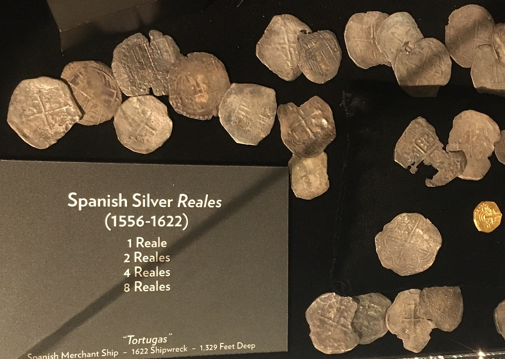 spanish reales aka pieces of eight at branson shipwreck museum