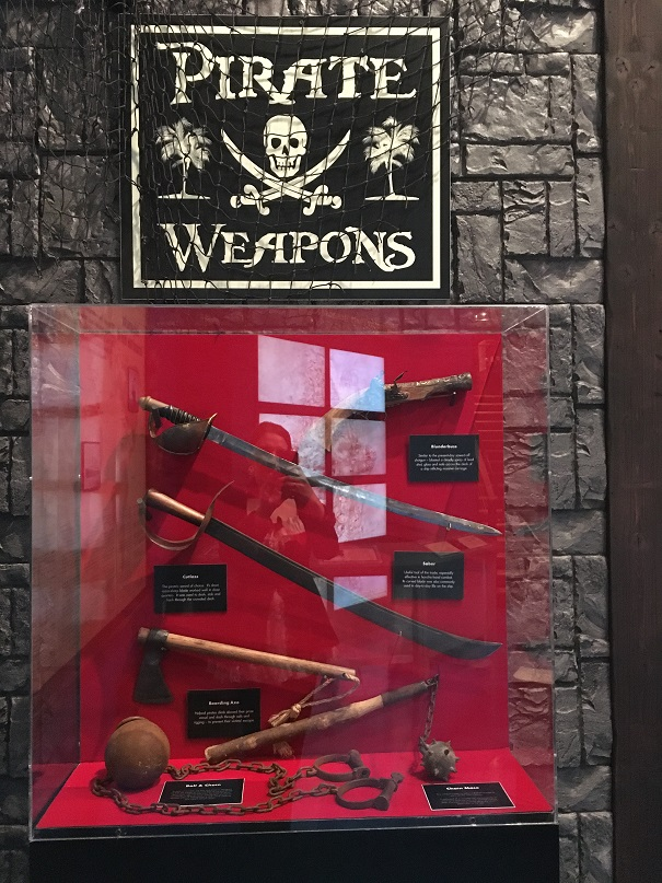Pirate weapon display